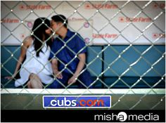 engagement photo idea for baseball fans