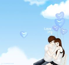 싸이스킨배경 : 네이버 블로그 Relax loving Cute Couple Cartoon, Anime Love Couple, Fantasy Love, Fantasy Art, Anime Couples, Cute Couples, Lovely Girl Image, I Believe In Love, Fantasy Comics