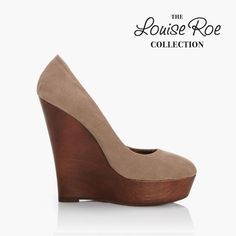 Hutton taupe. Wooden sole wedge. £39.95.