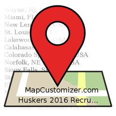 Huskers 2016 Recruiting Class | MapCustomizer.com: Plot multiple locations on Google Maps