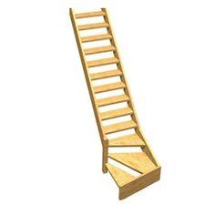 Escalier 1 qt primo h tre rampe fuseaux droits lapeyre - Peinture escalier castorama ...