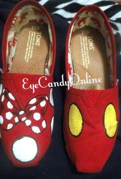 Disney Toms Mickey and Minnie!!!!!!!!!!! <3<3<3<3<3<3<3<3 LOVELOVELOVELOVELOVE