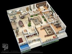 #lavish #bungalow #floorplan #sectionals by @hs3dindia  #ArchDaily #archilovers #architect