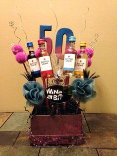 Funny 50th Birthday Gift Ideas Basket By More Diy