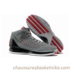 Nouveaux Hommes de Adidas Rose 3.0 Basket-ball Chaussures Gris Noir