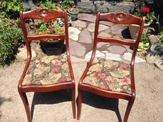 Vintage 2 Mahogany Wooden Rose Carved Chair Machusetts Pick Up Carvedrose Craddock