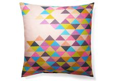 One Kings Lane - Mix in Some Modern - Triangles 20x20 Pillow, Multi