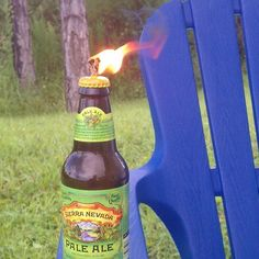Glass Bottle Tiki Torch | Cool DIY Beer Bottle Light Craft Projects by DIY Ready at  www.diyready.com/diy-projects-uses-for-beer-bottles/