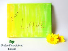 Ombre Embroidered Canvas