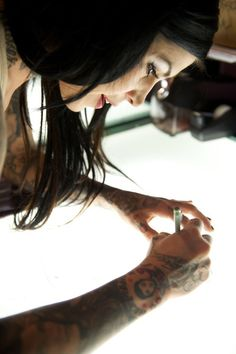 Kat von D....How much would I love to get a tattoo from her!'