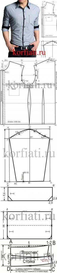 Camisa cabida de los hombres patrón de A. Korfiati
