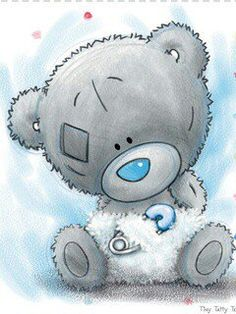 31 Ideas For Baby Ilustration Bear Tatty Teddy Tatty Teddy, Bear Images, Bear Pictures, Cute Pictures, Teddy Pictures, Watercolor Card, Lapin Art, Blue Nose Friends, Bear Illustration