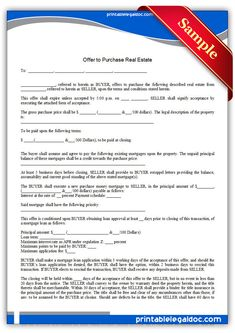 Free Printable Bulk Sale Agreement Simple  Sample Printable