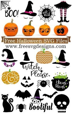 Free Halloween designs for your spooky cutting projects Halloween Designs, Halloween Projects, Diy Halloween, Halloween Phrases, Halloween 2019, Manualidades Halloween, Cricut Fonts, Svg Files For Cricut, Cricut Tutorials