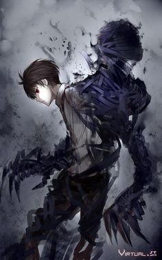 Ajin ~ ah man the art is so great I love it! I'm not too far into the anime OR manga but I really like it Ajin Anime, Manga Anime, Art Manga, Manga Boy, Anime Demon, Anime Boys, Red Hair Anime Guy, Guy Hair, Anime Hair