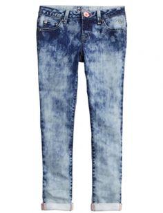Dye Effect Ankle Jeans