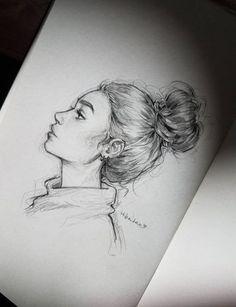 It was child's play to start sketching slowly, but that's it - Kunst Bilder - Art Sketches Pencil Art Drawings, Art Drawings Sketches, Cute Drawings, Sketch Art, How To Sketch, Awesome Drawings, Pencil Drawing Tutorials, Hiba Tan, Art Du Croquis