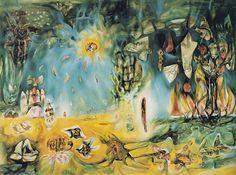 """Roberto Matta, """"La tierra es un hombre"""", 1943. Col. Joseph Shapiro, Oak Park, Illinois."""