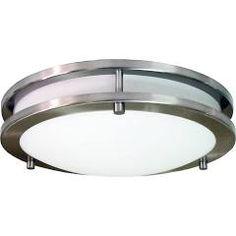 HomeSelects International 6106 Saturn 3 Light Flush Mount Ceiling Fixture Brushed Nickel Indoor Lighting Ceiling Fixtures Flush Mount