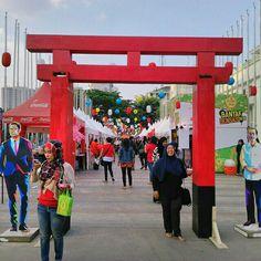 Konbanwa festival gate