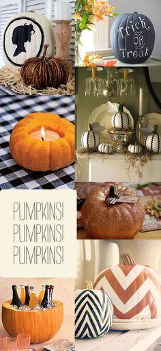 pumpkin halloween Pumpkin Decor & Details {Halloween Inspiration}