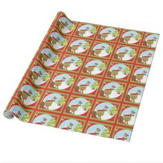 #Christmas Woodland Animal Squirrel Wrapping Paper - #cute #gifts #cool #giftideas #custom