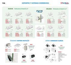 Soportes y Sistemas Corredizos Perfiletto ®| Catálogo Virtual Perfiletto