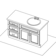 42 inch bathroom vanity with offset sink - Google Search
