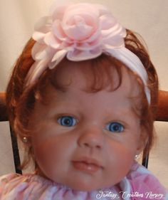 """Reborn Babies for Sale, Toddlers, Toddler, Reborn Babies, Reborn Dolls.  Louisa is 25.5"""" with beautful blue eyes and reddish brown hair.  She has a soft body and 3/4 arm and 3/4 leg, wears size 3-6 months and size 1 shoe."""