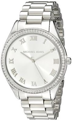 Michael Kors Womens Blake MK3243 Silver StainlessSteel Quartz Watch -- Click image to review more details.