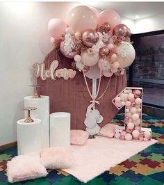 birthday for him 1st Birthday Party For Girls, Birthday Balloon Decorations, Girl Birthday Themes, Baby Girl Shower Themes, Girl Baby Shower Decorations, Baby Party, Baby Decor, Baby Birthday, Birthday Ideas
