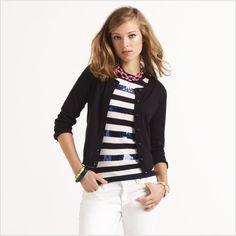 CAROLINE CARDIGAN  $198.00 $118.00 sale    http://www.katespade.com/designer-clothing/women%27s-tops-and-sweaters/essentials-caroline-cardigan/NJMU1610,default,pd.html?dwvar_NJMU1610_color=001=195=sale