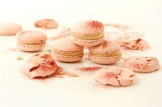 Cute pink macarons