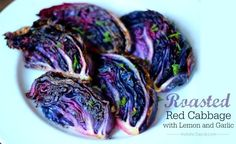 This roasted red cabbage with garlic and lemon has been one of my most surprising favorites. Who knew the boring old cabbage could be so ah-mah-zing!