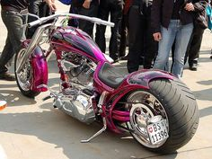 Purple Custom Chopper | See the bikes --> www.TotallyRadChoppers.com | #choppers #motorcycles http://totallyradchoppers.com/purple-custom-chopper/
