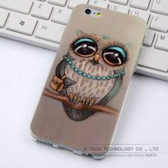 "Cute Owl Cartoon Coque for iphone 6 6S Case Soft TPU ShockProof Case For Apple iphone 6S iphone6 4.7"" Back Protective Cover"