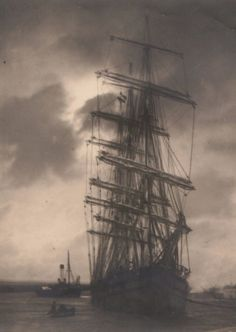Ship in Harbor, c.1925    photo by Pierre Dubreuil