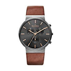 Skagen Men's SKW6106 Ancher Saddle Leather Watch