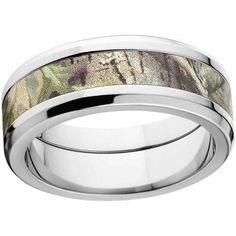 tw Diamond 8mm Band Best Birthday Gift Stainless Steel Polished Camoflauge 1//10ct