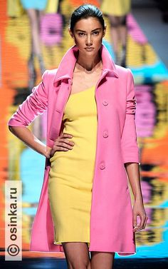 Blumarine--I want to wear a pink coat with a yellow dress so bad! : Blumarine--I want to wear a pink coat with a yellow dress so bad! Cool Style, My Style, Pink Jacket, Coat Dress, Looking For Women, Passion For Fashion, Spring Summer Fashion, Nice Dresses, Clothes For Women