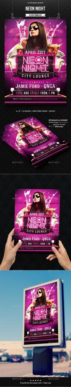 Neon Night - Flyer