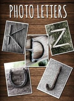 INEXPENSIVE Photo Letters- Perfect for class alphabet charts, photo projects... I'm using this one for an end of year gift for each student- just print out their names! It's a digital file, so I can use them over and over again. Definitely pinning for later!!