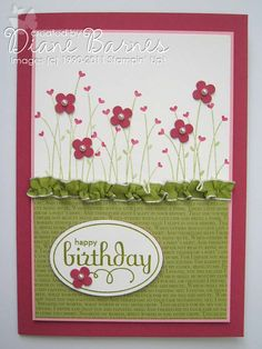 simple but pretty  - stampin Up Perfect Punches colour me happy