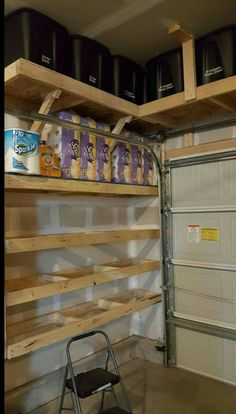 101 Garage Organization Ideas That Will Save You Space! DIY Guy 101 Garage Organization Ideas That Will Save You Space! DIY Guy,Addition ideas 101 Garage Organization Ideas That Will Save. Garage House, Garage Shelf, Building Shelves In Garage, Garage Shelving Plans, Diy Garage Storage Cabinets, Basement Storage Shelves, Shelving Units, Dream Garage, Garage Organization Tips