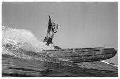 Dewey Weber, 22nd Street, Hermosa Beach, 1966 by LeRoy Grannis - back in the days, when longboard surfing was religion.