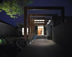 The path with Pergola at Contemporary Resort House Design Ideas