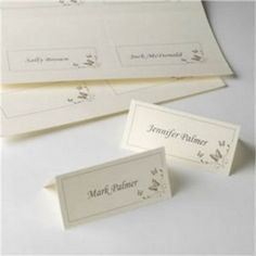 Ivory printable place cards with gold butterflies. Wedding Place Cards, Wedding Table, Wedding Ceremony, Reception, Table Accessories, Wedding Accessories, Wedding Favours, Wedding Gifts, Butterfly Place