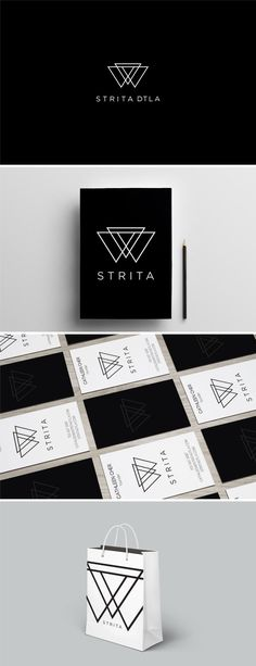 Client: STRITA | DTLA - Brand in a Box Package: Basic website design;  Custom graphics for website, social media profiles, event signage or other marketing materials; Logo design + business cards Brand guideline that shows proper use of logo, color scheme, fonts, layout of text and icon; and Two additional branded products depending on industry.