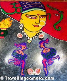 Diwali Rangoli - Art at Adobe || MobileGIRI at 'Diwali Celebration Week 2013' | PHOTO JOURNEY