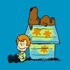 Scooby Doo as Charlie Brown and Snoopy Snoopy Love, Charlie Brown Snoopy, Desenho Scooby Doo, Comic Cat, Shaggy And Scooby, Scooby Doo Mystery, Arte Disney, Peanuts Snoopy, Cartoon Art